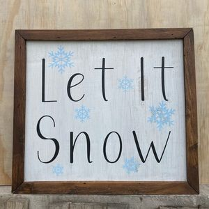 'Let It Snow' Decor